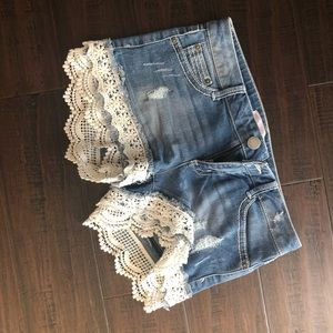 Lacey jean shorts- juniors
